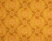 Noble Family by MItzuki for Benartex Fabrics, Quilting Fabric, Gold Stylized leaves Sold by the Half Yard