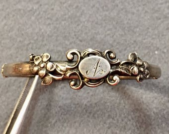 Antique Victorian Silver Child's Bracelet-Free shipping