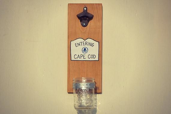 entering cape cod cap catching bottle opener wall mounted. Black Bedroom Furniture Sets. Home Design Ideas