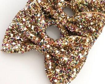 The Ellia // confetti glitter bow elastic headband or clip // beck and belle