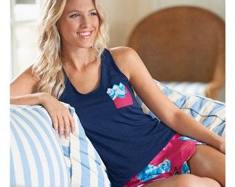 Monogrammed Floral Pajama Set-Mud Pie Pajama Set-Bridal Pajamas-Ladies Pajamas-Floral Pajamas-Pajama Set-Lilly Inspired Pajamas-Mud Pie