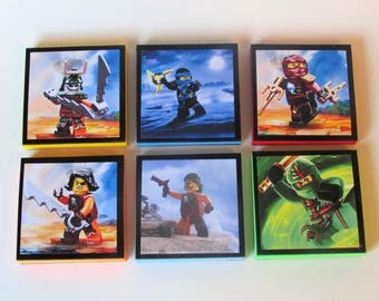 Ninjago Note Pads Set of 6 (set #2) - Excellent Party Favors - Ninjago Party Favors - Ninjago Birthday Party