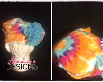 Tie Dye Fleece Hat