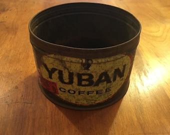 Yuban Coffee Tin Advertising