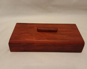 Wood Box, Red Heart