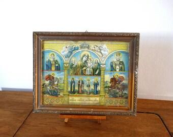 Religious Icon, Byzantine Icon, Catholic Decor, Baptism Gift, Christian Icon, Antique Icon, Orthodox Icon Print, Russian Icon, Catholic Gift