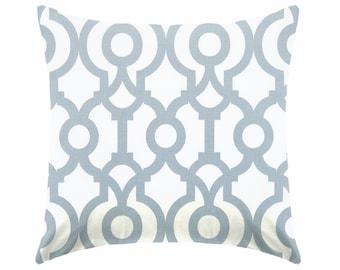 Decorative Pillow, throw pillow, toss pillow, cushion, pillow sham, steel pillow, blue pillow, white and blue pillow