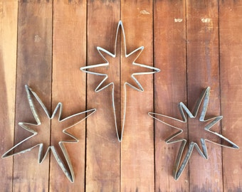 Christmas Star of Bethlehem | Giant Cookie Cutter | Sculpture From Recycled Wine Barrel Metal Hoop