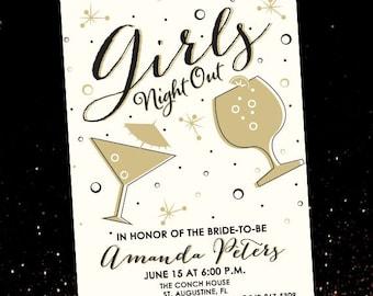Girls Night Out Invitation - Bachelorette Party Invitation - Printable Invitation - Bridal Shower