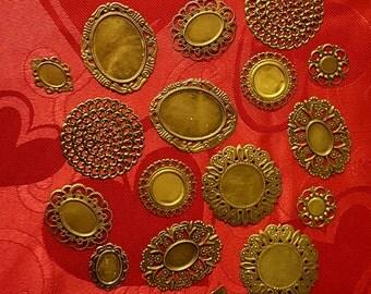 Decorative Metal Filigree - 20 pieces - Lot 9