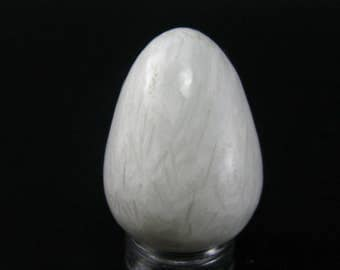 """Large Scolecite Egg From India - 1.2"""""""