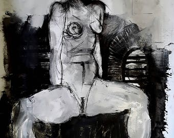 Erotic Painting - 'Heather'