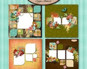 ON SALE Digital Scrapbook, Fox, Quick Page Set: Down In The Hollow