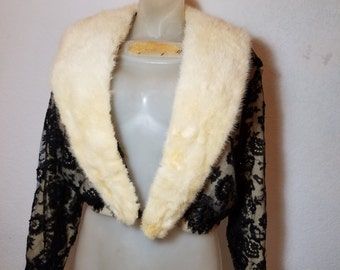 FREE  SHIPPING  Vintage Cashmere Mink Cardigan