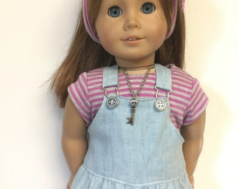 """18 """" Doll Clothes fit American Girl Doll - 5 pc outfit includes shoes!"""