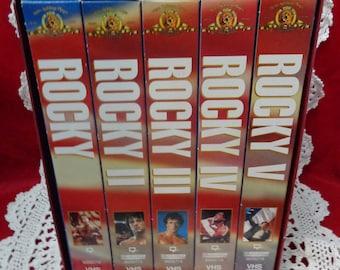 Vintage Rocky Series VHS Rocky Balboa Movie Series Sylvester Stallone VHS