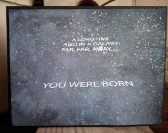 Galaxy Birthday Card, You Were Born Eons Ago Birthday Card, Time Warp Birthday Card