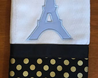 Paris Eiffel Tower Burp Cloth