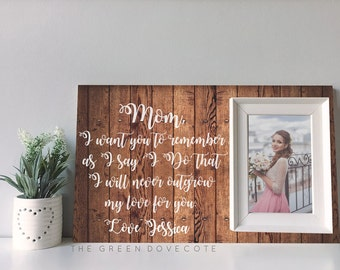 Mother Of The Bride Gift - Wedding Gift For Mother Of Bride - Thank You Gift - Gift For Mom - Mother In Law Gift - Custom Wedding Frame