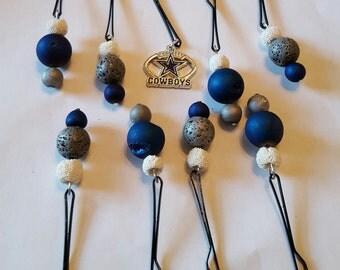 Dallas Cowboys Beard Art Baubles Beard Ornaments Beard Bauble Ornaments Football Beard Set of 9 FTB