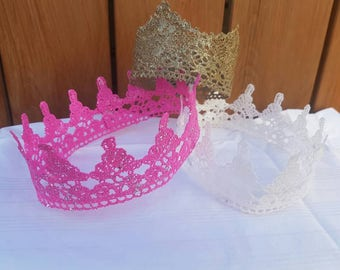 Lace crown   GOLD   PINK   WHITE