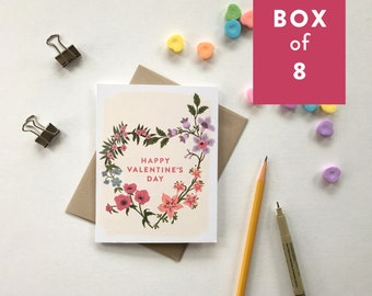 Happy Valentine's Day cards — box of 8