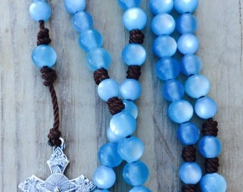 Blue & Brown Rosary
