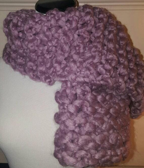 Chunky Cuddly Wool Acrylic Blend Scarf