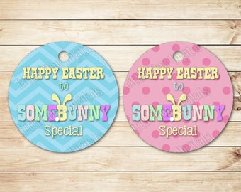Easter gift tags etsy instant download happy easter to somebunny special easter gift tags 25x25 negle Images