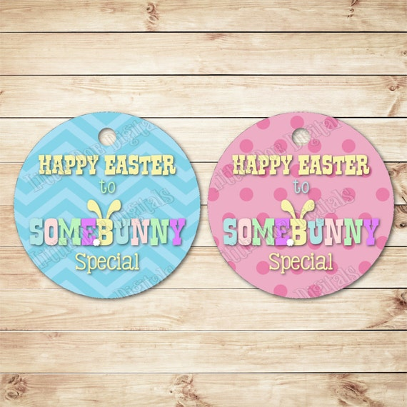 Instant download happy easter to somebunny special easter gift instant download happy easter to somebunny special easter gift tags 25x25 party favor easter treat tag tag printable gift bag tags from negle Images