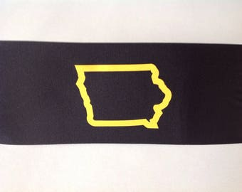 "Black ""Iowa"" Spandex Headband"