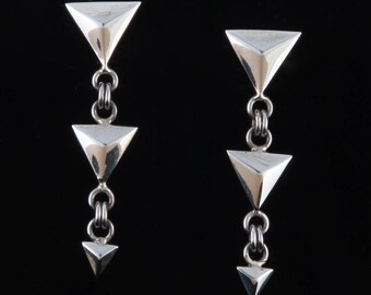 Geo1 - Earrings - Sterling Silver