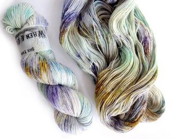 Sock Yarn Superwash Merino/Nylon 85/15 4ply Handdyed Yarn: TIDE POOL