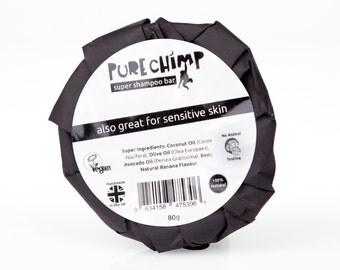 PureChimp Super Shampoo Bar 80g 2.82oz - 100% Natural, Handmade, Vegan