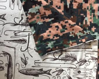 Camo/Fish Adult Blanket