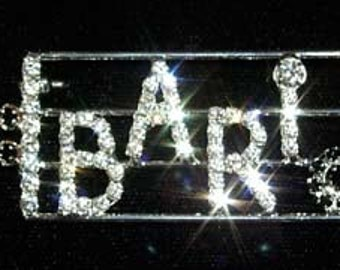 Style # 12642 Bari with Music Bars Pin