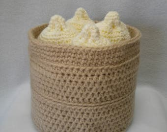 Crocheted Chinese steamed bun hat