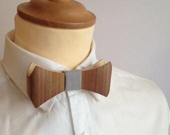 Wooden bow tie Walnut