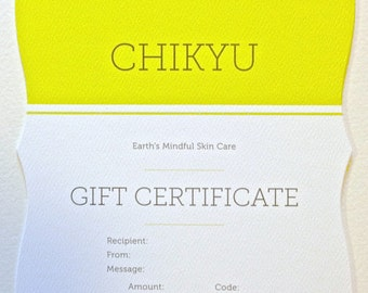 Gift Certificate, Gift Card, Gift Certificate for Friend, Gift Certificate for Loved One, Gift Certificate for Holidays