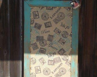 Antiqued Cork and Chalkboard