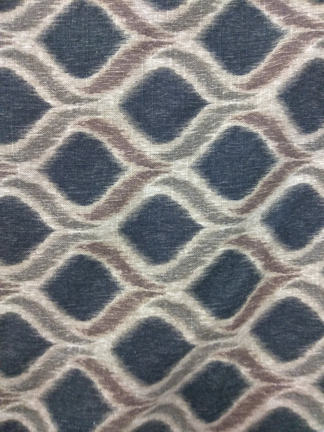 Modern upholstery per yard grey color ikat fabric for for Modern home decor fabric