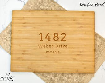 Real Estate Closing Gift, Realtor Closing gift for buyers, housewarming gift, new home gift, cutting board personalized cutting board - 040