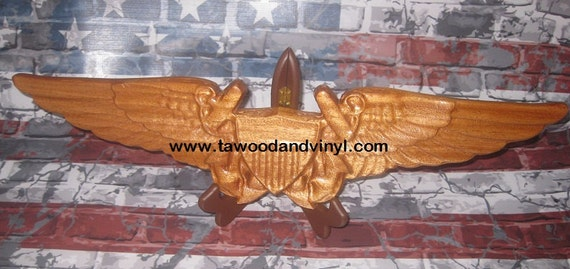 navy flight officer, Flight navigator wings,  Officer gifts, aviation art, wood wings,  flight wings, wing gift, aviation gifts,Roughly 19x5