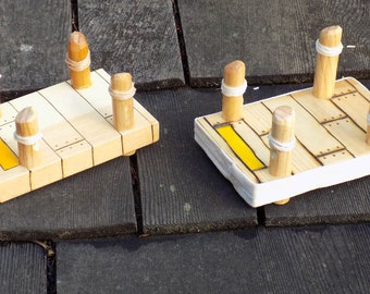 Wooden Toy Boat Dock