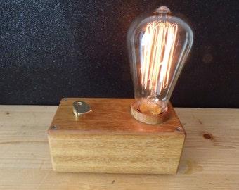 Lámpara retro  edison madera de sucupira