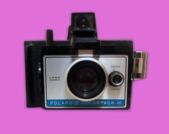 Vintage Polaroid COLORPACK III Land Camera 1970's