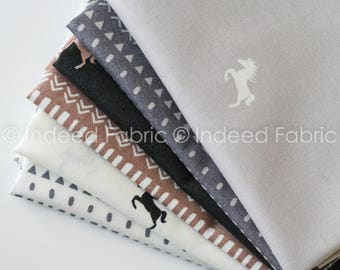 FAT QUARTER Bundle- Equestrian, Camelot Fabrics, Quilting Weight Cotton