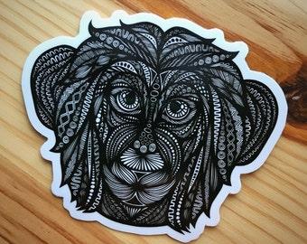 Zentangle - Monkey Sticker