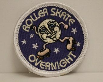 Roller Skate Overnight Patch (1) - man in the moon roller disco rink skating kjallraven Hershel