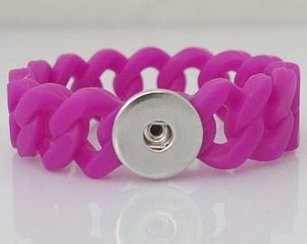 Small Magenta Stretch Silicone Bracelet